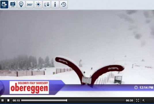 Obereggen Snow Park Live Streaming Skiing and Snowboarding Weather Webcam, IItaly