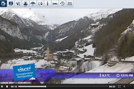 Heiligenblut Ort Skiing and Snowboarding Weather Webcam, Austria