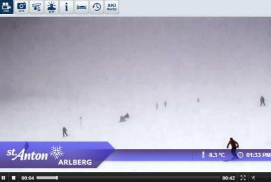 St.Anton am Arlberg Live Streaming Skiing and Snowboarding Ski Resort Weather Cam, Austria