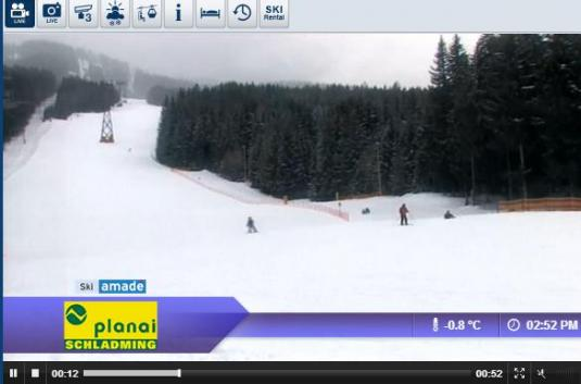 Live Streaming Hochwurzen Talstation Ski Resort Skiing and Snowboarding Weather Webcam, Austria