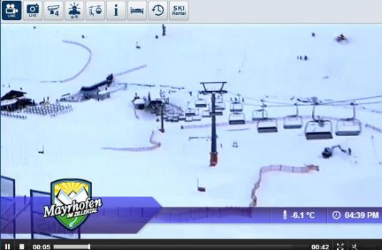 Live Streaming Horberg Hintertrett Ski Resort Skiing and Snowboarding Weather Webcam, Austria