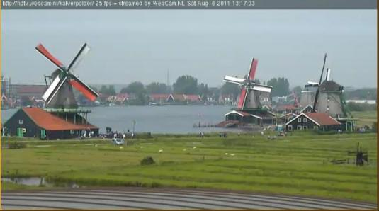 Zaanse Schans Windmills Live Streaming HD Webcam Netherlands