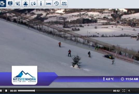 Kaprun Maiskogel Ski Resort Live Streaming Skiing and Snowboarding Weather Webcam, Austria