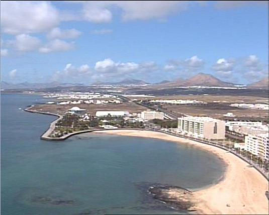 Arrecife Live Holiday Resort Beach Weather Webcam Lanzorote Canary Islands