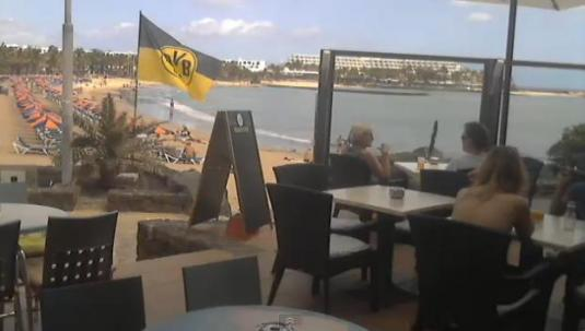 Costa Teguise Live Beach Bar Webcam Lanzorote Canary Islands