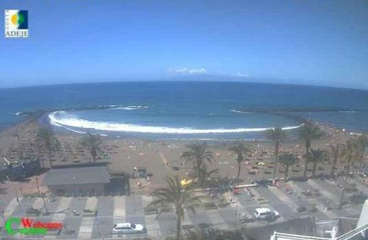Playa de Las Americas Live Troya Beach Weather Web Cam Tenerife Canary Islands