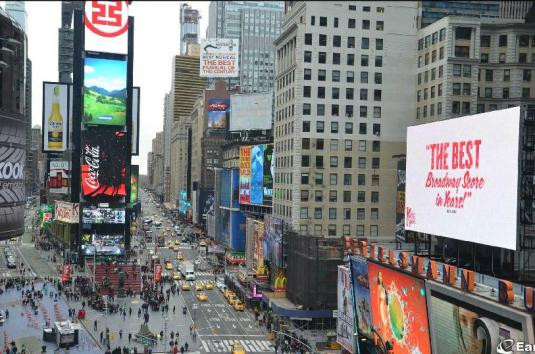 New York City Live Times Square Gigapixel NASDAQ HD Webcam New York