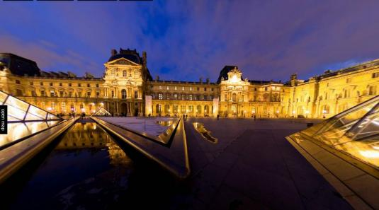 Louvre Museum Pyramid Gigapixel 360 degree Panoramic Live Cam Tour Paris