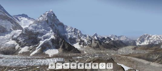 Khumbu Glacier Live Mount Everest Gigapixel Panoramic HD Cam 180 Degree Virtual Tour