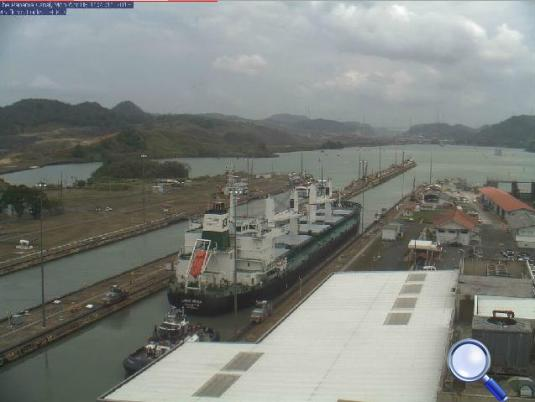 The Panama Canal Miraflores Locks Webcam Panama