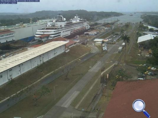 Panama Canal Live Gatun Locks Webcam Panama