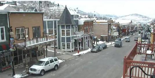 Park City Main Street Traffic Weather Webcam US State of Utah