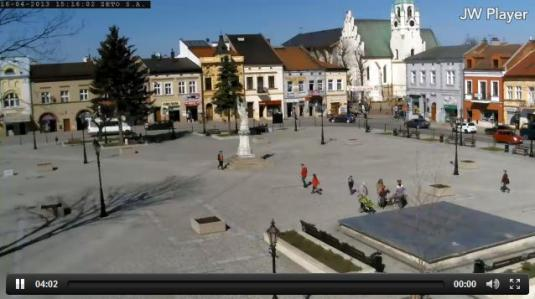 Brzesko Town Square Live Weather Webcam Southern Poland