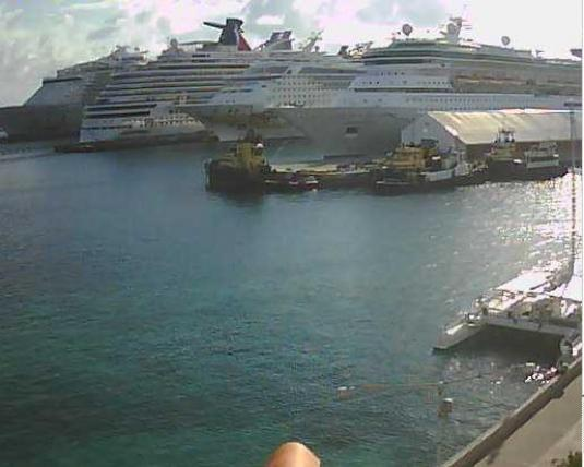 Nassau Cruise Ships Port Weather Webcam New Providence Island Bahamas