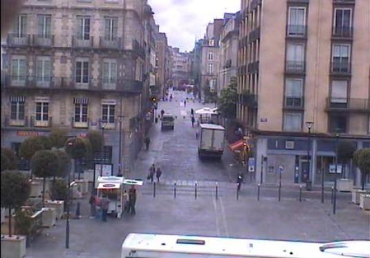 Rennes City Centre Traffic Weather Cam Brittany France