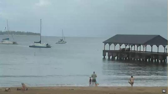 Hanalei Holiday Resort Beach Surfing Weather Webcam Island of Kauai Hawaii