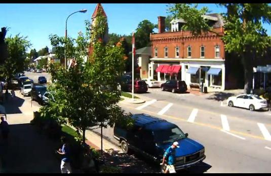 Downtown Niagara Falls Queen Street Traffic Weather Cam