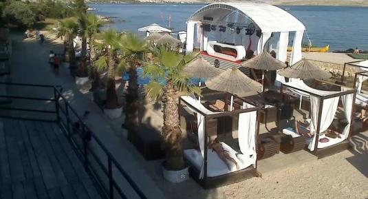 Kalypso Beach Bar Club Live Streaming HD Web Cam Zrce Beach Pag Island
