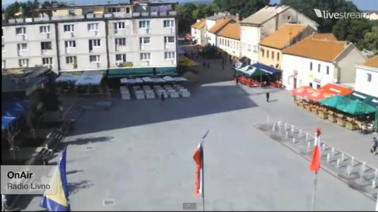Livno Town Square streaming weather webcam Bosnia and Herzegovina