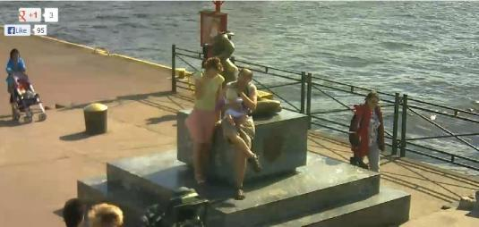 Ustka Seaside Holiday Resort Syrenka Mermaid People Watching Webcam