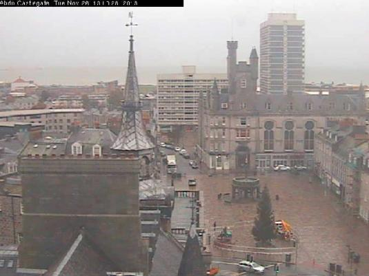 Aberdeen City Centre Live Town Square Skyline Weather Webcam, Aberdeen, Scotland