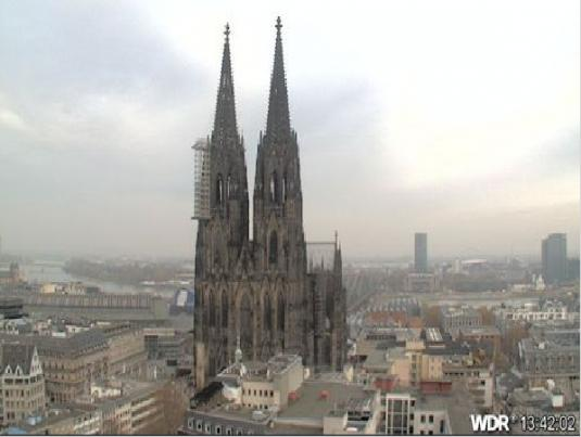 Cologne City Centre Live Skyline Weather Webcam, Cologne, Germany