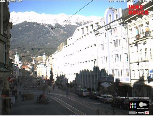 Innsbruck Live Town Centre Skiing and Snowboarding Weather Webcam Austria