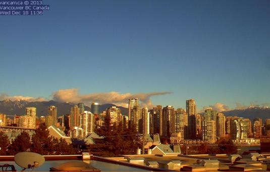 Vancouver Downtown Live Weather Webcam Vancouver Canada