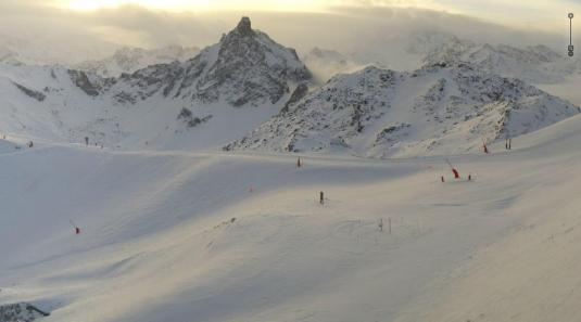 Summit Saulire Courcheval Ski Slopes Weather Webcam French Alps France
