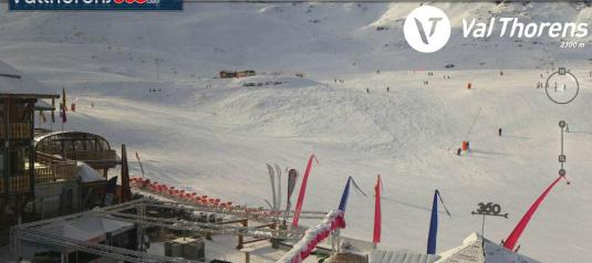 Chalet du Thorens Live Skiing Weather Webcam Val Thorens France