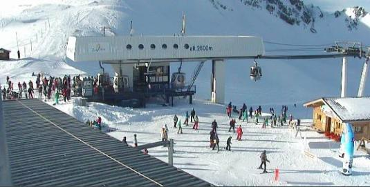 Les Arcs Arcabulle Skiing Lift and Ski Slopes Live Weather Webcam France