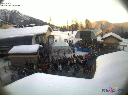 Rosa Khutor Alpine Resort Winter Olympic Games Ski Lift Webcam Sochi Russia