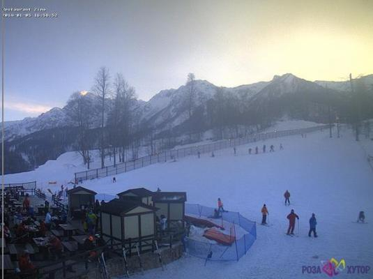 Krasnaya Polyana Live Rosa Khutor Skiing Slopes Weather Webcam Russia