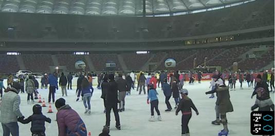 Warsaw National Stadium Ice Skating Webcam Warsaw Poland