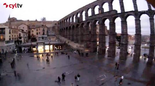Aqueduct of Segovia Streaming Weather Webcam Segovia City Spain