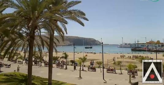Los Cristianos Beach Live Streaming Tenerife Holiday Weather Cam