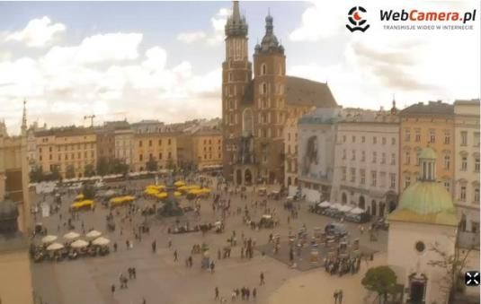Main Square Kraków Live Streaming Video Webcam Krakow Poland