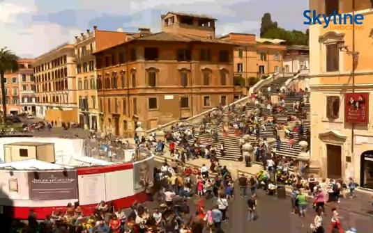 Piazza di Spagna Spanish Steps Live Streaming Webcam Rome Italy