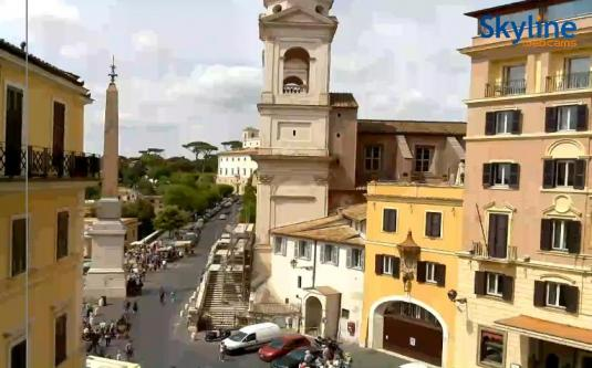 Piazza Trinità dei Monti Church Streaming Webcam Rome Italy