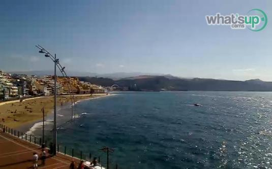Las Canteras Beach Live Streaming Las Palmas Weather Webcam Gran Canaria