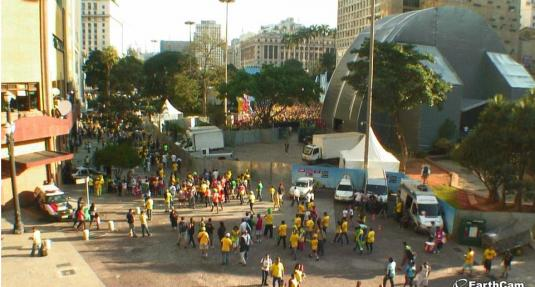 Sao Paulo Live Parque Anhangabau Brazil World Cup Fan Zone Webcam Brazil