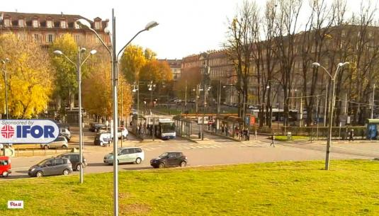 Turin City Live Statuto Square Traffic Weather Webcam City of Turin Italy