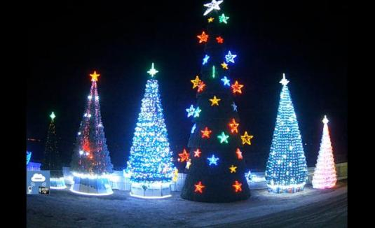 Live Christmas Themed Russian Web Cam Christmas Trees Moscfow Russia