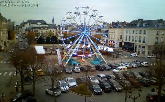 Reims Live Christmas Market Ferris Wheel Streaming Webcam France