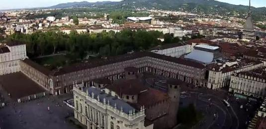 Turin Live Piazza Castello Square Royal Palace Webcam Turin Italy
