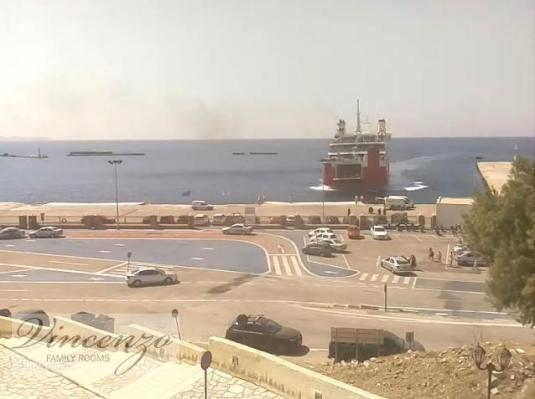 Tinos Port Live Ferry Weather Webcam Island of Tinos Greece