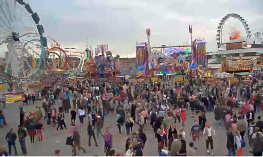Live Munich Oktoberfest 2015 Funfair Web Cam Bavaria Germany