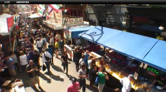 New York Little Italy Live Mulberry Street People Watching Web Cam New York City