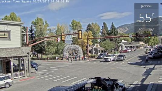 Jackson Town Square Streaming Traffic Weather Cam Jackson Hole Wyoming