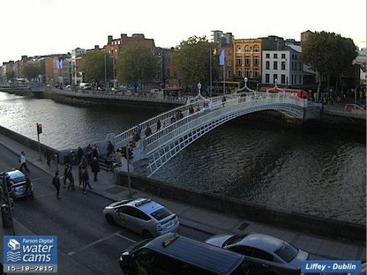Ha\'penny Bridge River Liffey Webcam Liffey Bridge Dublin Ireland